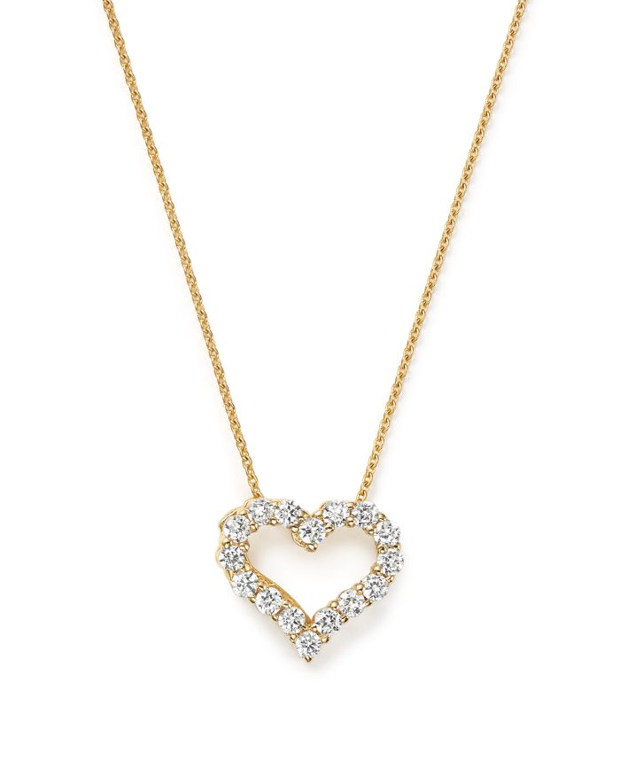 Bloomingdale's Diamond Heart Pendant Necklace in 14K Yellow Gold, .25 ct. t.w. - 100% Exclusive     Bloomingdale's
