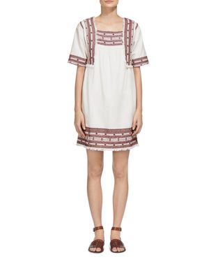 Whistles Selina Embroidered Tunic Dress