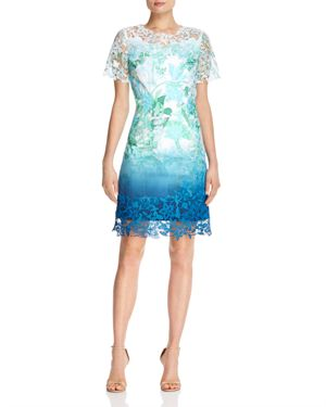 Elie Tahari Organdy Ombre Dress