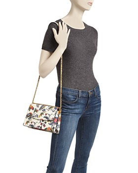 Tory Burch - Parker Convertible Floral Leather Shoulder Bag