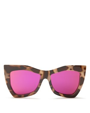 Le Specs Kick It Cat Eye Mirrored Sunglasses, 54mm