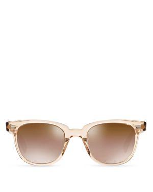 Oliver Peoples Masek Mirrored Sunglasses, 51mm