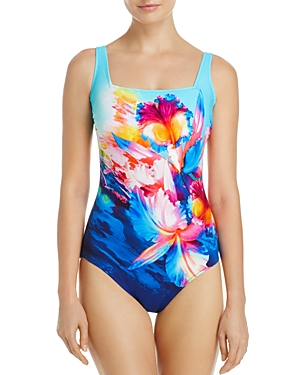 Gottex Hawaii Square Neck One Piece Swimsuit