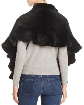 Maximilian Furs - Knitted Mink Ruffled Stole