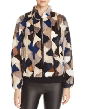 Maximilian Furs Multicolor Saga Mink Fur Jacket - 100% Exclusive
