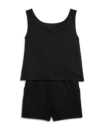 AQUA - Girls' Popover Romper, Big Kid - 100% Exclusive