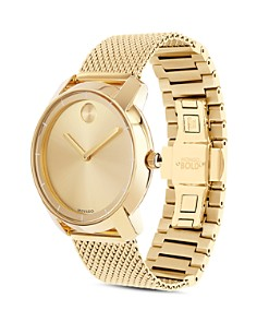 Movado - Movado BOLD Mid Size Yellow Gold Ion-Plated Watch, 36mm