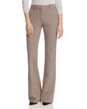 Theory Demetria Windowpane Check Bootcut Pants