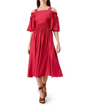 Hobbs London Sienna Cold-Shoulder Dress