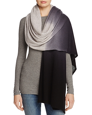 C by Bloomingdale's Cashmere Dip-Dye Wrap - 100% Exclusive