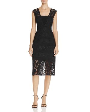 Adrianna Papell Lace Midi Dress