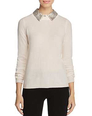 C by Bloomingdale's Sequined-Collar Cashmere Sweater - 100% Exclusive