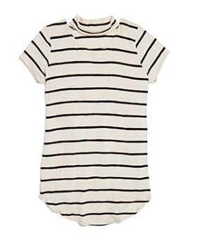 AQUA - Girls' Striped Choker Tee, Big Kid - 100% Exclusive