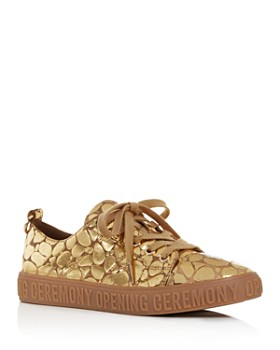 Opening Ceremony - Women's La Cienega Metallic Embossed Low Top Sneakers