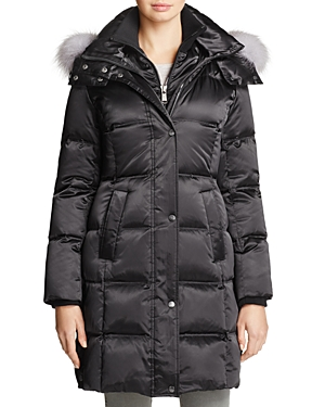 Andrew Marc Leven Fur Trim Down Coat