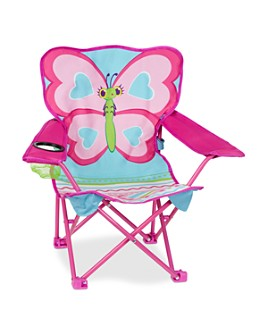 Melissa & Doug - Butterfly Camp Folding Chair - Ages 3+