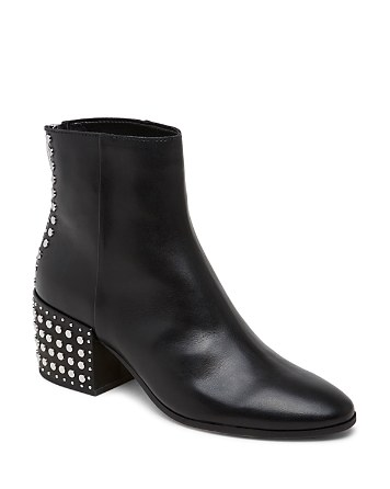 $Dolce Vita Mazey Studded Leather Booties - Bloomingdale's