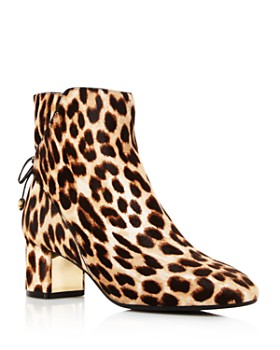 b117b061bacd Tory Burch - Women s Laila Leopard Print Calf Hair Booties ...