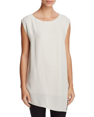 Eileen Fisher Asymmetric-Hem Silk Tunic
