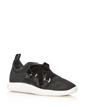 Giuseppe Zanotti Glitter Grommet Slip-On Sneakers