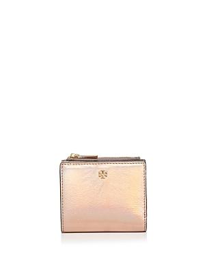 Tory Burch Robinson Metallic Mini Leather Wallet