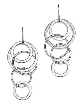 Bloomingdale's - Sterling Silver Cascading Circle Drop Earrings - 100% Exclusive