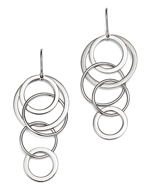 Sterling Silver Cascading Circle Drop Earrings - 100% Exclusive