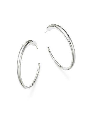 Bloomingdale's - Sterling Silver Large Graduated Hoop Earrings - 100% Exclusive