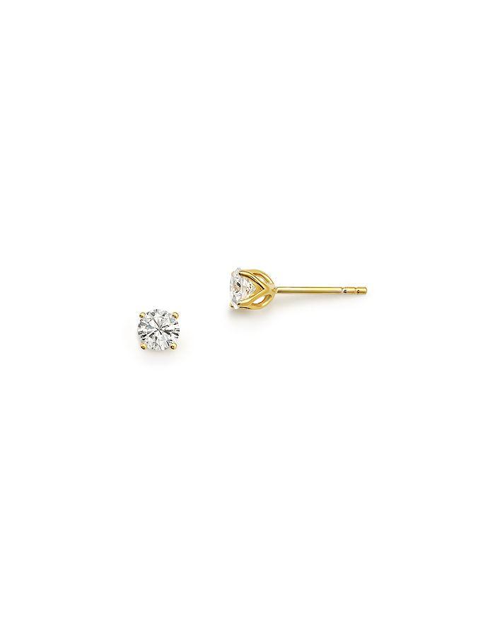 Bloomingdale's DIAMOND ROUND TULIP STUD EARRINGS IN 14K YELLOW GOLD, 0.33 CT. T.W. - 100% EXCLUSIVE