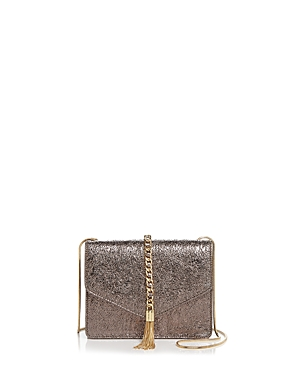 Street Level Flap Tassel Metallic Crossbody