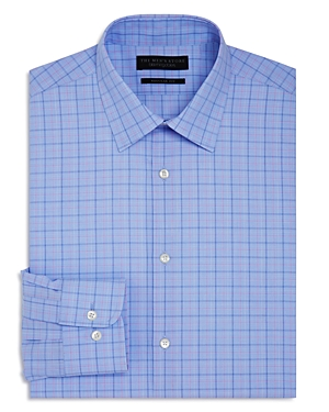 The Men's Store at Bloomingdale's Large Grid Check Overcheck Regular Fit Dress Shirt - 100% Exclusiv
