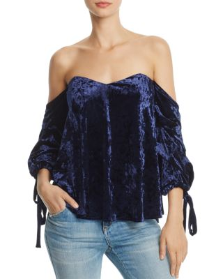 $Do and Be Off-the-Shoulder Velvet Top - Bloomingdale's