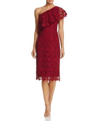 $nanette Nanette Lepore One-Shoulder Lace Sheath Dress - Bloomingdale's