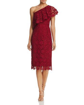 nanette Nanette Lepore - One-Shoulder Lace Sheath Dress