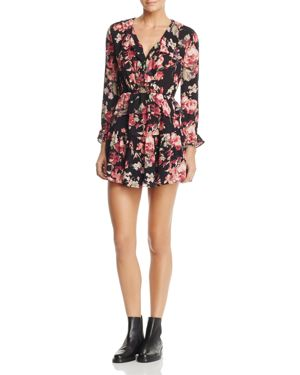 Soft Joie Joada Floral Print Peplum Silk Dress
