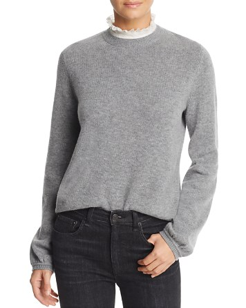 $Joie Affie Lace-Collar Sweater - Bloomingdale's