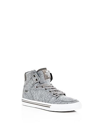 0ec1a7268c Supra - Boys' Vaider Jersey High Top Sneakers - Toddler, Little Kid, Big