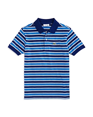 Lacoste Boys' Stripe Pique Polo - Little Kid, Big Kid