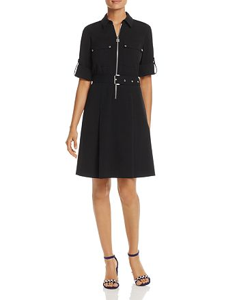 MICHAEL Michael Kors - Half-Zip Shirt Dress