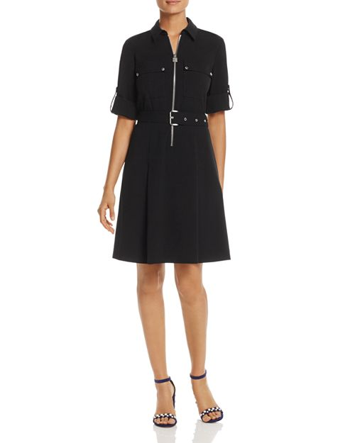 MICHAEL Michael Kors - Half-Zip Shirt Dress