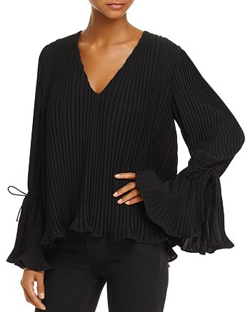 C/MEO Collective - Dream Chaser Pleated Bell-Sleeve Top