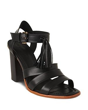 Whistles Maida Tassel High Block Heel Sandals