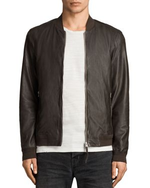 Allsaints Boxley Leather Bomber Jacket