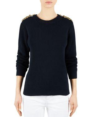 Gerard Darel Marine Epaulet Sweater