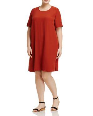 Eileen Fisher Plus Short-Sleeve Shift Dress