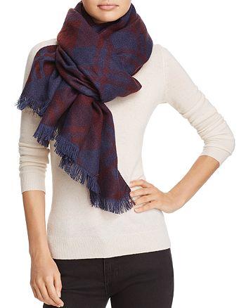 AQUA - Bias Plaid Blanket Scarf - 100% Exclusive