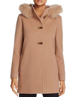 Cinzia Rocca Icons - Fox Fur Trim Wool & Cashmere Duffel Coat