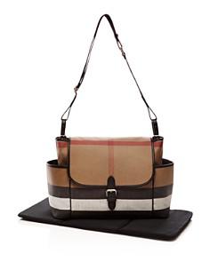 Burberry - Check Large Diaper Tote Bag