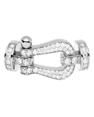 FRED 18K WHITE GOLD FORCE 10 DIAMOND LARGE BUCKLE