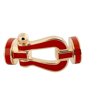 Fred 18K Yellow Gold Force 10 Red Large Buckle
